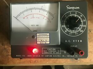 Simpson Model 715 Electrical A c Vtvm Meter Vintage