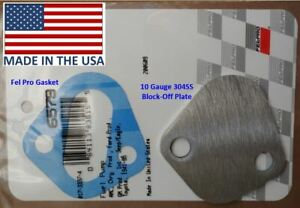 304ss Fuel Pump Block Off Plate Chevy 454 396 Bbc Ford 351w 302 Dodge 440 360
