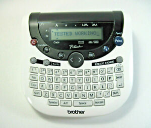 Brother Pt 1290 Label Thermal Printer Black White No Tape Or Battery Tested