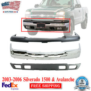 Front Bumper Chrome Upper Cover Valance For 2003 06 Chevrolet Silverado 1500