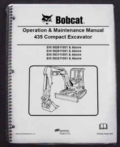 Bobcat 435 Excavator Operation Maintenance Manual Operator owner s 1 6902330