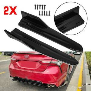 For Toyota Camry Se Xse 2018 2019 2020 Gloss Black Rear Bumper Splitters Aprons