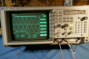 Hp 54520a 2 Channel 500mhz 1gs s Good Condition 2 100mhz Probes