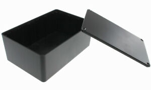 Black Plastic Enclosure Project Box With Lid And Screws 5 89 X 3 89 X 2 36