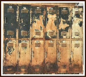 Industrial Metal Storage School Lockers Rustic Set