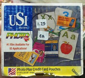 Usi 1010 Photo Plus 5 Mil 230 Credit Card Laminating Pouches 2 1 8 X 3 3 8