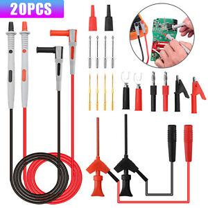 Electronical Multimeter Probe Test Lead Kit Banana Plug Alligator Clip Test Hook