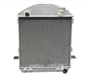3 Rows Aluminum Radiator Fit 1917 1927 Ford Model T Bucket 2 9 W Chevy Engine