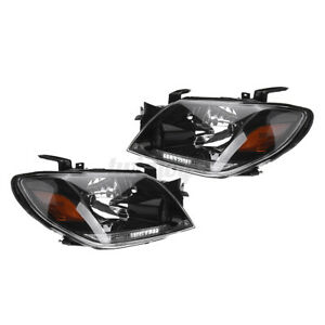 2pc Front Headlight Head Light Lamp Lens Assembly For Mitsubishi Outlander 03 05