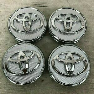 57mm Set Of 4 Wheel Center Caps Silver Chrome Fits Toyota Corolla Yaris Prius