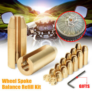 14 Pack Motorcycle Reusable Brass Wheel Spoke Balance Weights Refill Kits New