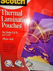 Scotch 3m Thermal Laminating Pouches Letter Size Gloss 8 1 2 X 11 50 Pouches