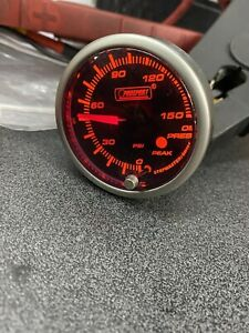 Prosport 52mm Oil Pressure Gauge Amber White