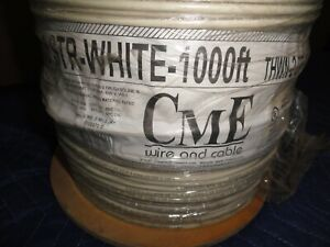 Thhn 8 Awg Stranded Copper Wire 1000 Ft White Cme Wire Cable