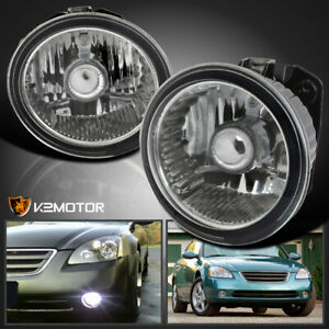For 2002 2004 Nissan Altima 2003 2005 Murano Clear Bumper Fog Lights Bulb Switch