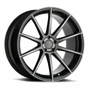 22 Mandrus Klass 22x9 Gloss Gunmetal W Machined Tinted Face 5x112 Wheel 35mm