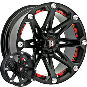 4 22x9 5 Black Wheel Ballistic Jester 814 5x5 12