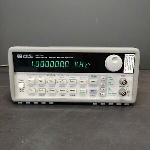 Used Hp 33120a 15mhz Function Arbitrary Waveform Generator