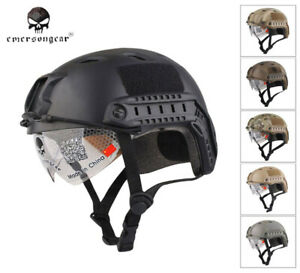 EMERSON FAST Helmet With Protective Goggle BJ Style Airsoft Combat Helmet EM8818 $34.73