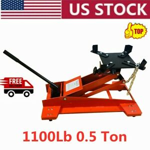 1100lb Low Profile high Lift Transmission Hydraulic Jack Auto Shop Repair Tool