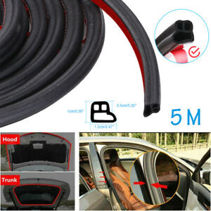 1 64ft L Shape Car Door Rubber Seal Strip Hood Trim Edge Moulding Weatherstrip