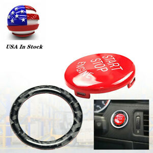 Red Engine Start Stop Push Button Cover Ring Trim For Bmw E90 E92 E93 2009 2012