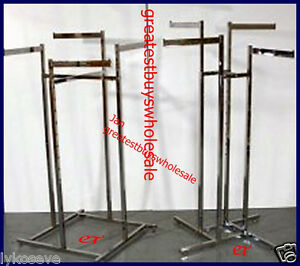 3 Clothing Racks Chrome 4 way W Wheels Adjustable Pick Up Only Variety