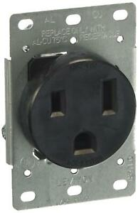 Leviton 5374 s00 50 Amp 250 Volt Flush Mounting Receptacle Straight Blade