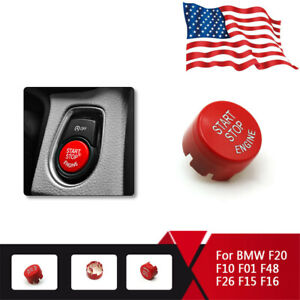 Red Engine Start Stop Push Button Replace Cover For Bmw F20 F30 F10 F48 F22 F15