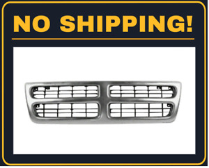 Front Grille Fits 1999 2003 Dodge Ram 1500 Van Chrome And Black Ch1200230