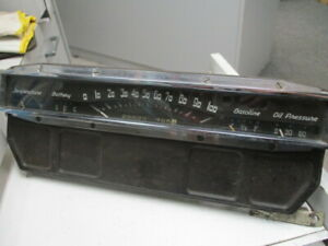 1940 Cadillac Lasalle Gauge Cluster Instrument Panel Arched Unequal Numbers