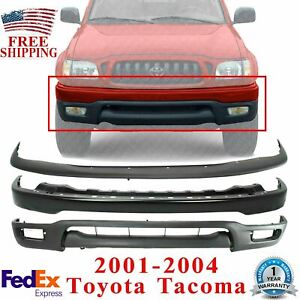 Front Bumper Primed Steel Filler Lower Valance For 2001 2004 Toyota Tacoma
