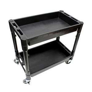 Bisupply Plastic Utility Rolling Cart With Shelves Rolling Tool Cart On Wheels