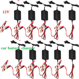 6v 12 Volt Trickle Battery Charger Maintainer Car Truck Motorcycle Mower Usa