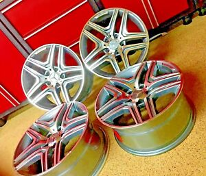 Mercedes 17 Inch Rims E63 Wheels Set4 New Fits E350 E300 E550 E500 Amg
