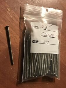 2 1 2 Annular Ring Shank Solid Stainless Steel Split Proof Siding Nails 100 Pcs
