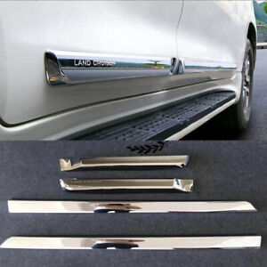 Chrome Body Door Side Molding Cover Trim Fit 2008 2019 Toyota Land Cruiser Lc200