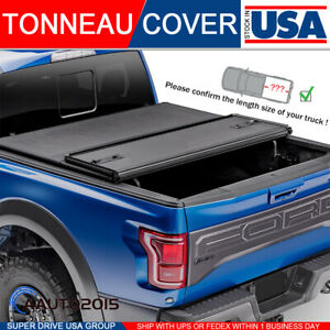Fits 2007 2013 Chevy Silverado Lock Solid Hard Tri Fold Tonneau Cover 6 5ft Bed