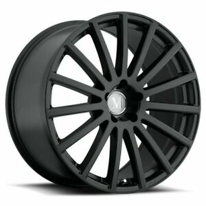 20 Mandrus Rotec 20x8 5 Matte Black 5x112 For Mercedes 5 Lug Wheel 25mm Rim