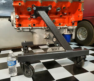 New Engine Cart Stand Cradle Fits The Ls Gen 5 Lt W Trans 4 Casters Sv