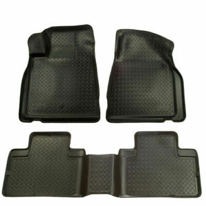 Husky Liners Classic Style Floor Mats Black For 01 04 Toyota Tacoma Double Cab