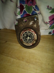 Vintage Engine Hours Meter Gauge Old Machinery Airplane Steampunk Orig Red