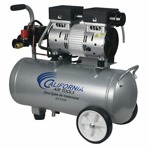 California Air Tools 1 Hp Ultra Quiet Oil Free Lightweight Air Compressor Used