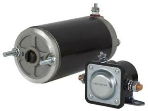 New 12v High Torque Snow Plow Angle Pump Motor And Solenoid Kit Fits Meyer E47