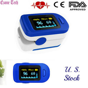 Oled Fingertip Pulse Oximeter Heart Rate Monitor Spo2 Blood Oxygen Saturation Us