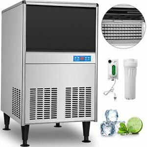 Undercounter Ice Machine Under Counter Ice Maker 125 Lbs 24 H Stainless Steel
