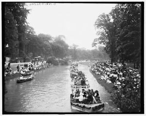 1905 Photo of Detroit Mich water parade Belle Isle b $32.50