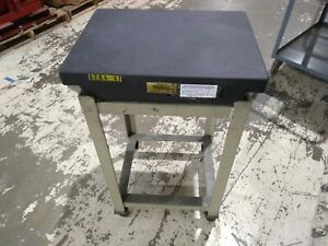 Doall 24 X 18 X 4 Inch Granite Flat Surface Plate On Rolling Stand