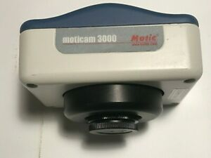 Moticam 3000 Microscope 3mp Color Ccd Camera Kit Includes Software Cables Card