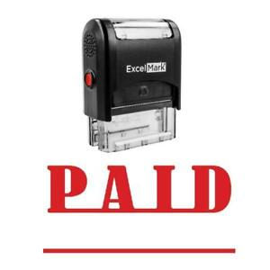 Line Paid Stamp Self inking Red
